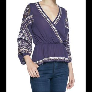 Free People Embroidered Top.. NWOT Size M